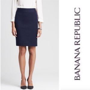 Banana Republic Sloan Pencil Skirt Navy Career 6